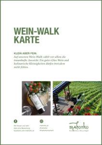 Mahorko Restaurant Wein Walk Karte